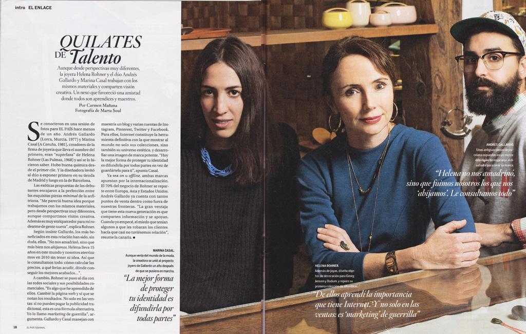 Helena Rohner: Quilates de talento (El País Semanal, February 24th 2013)
