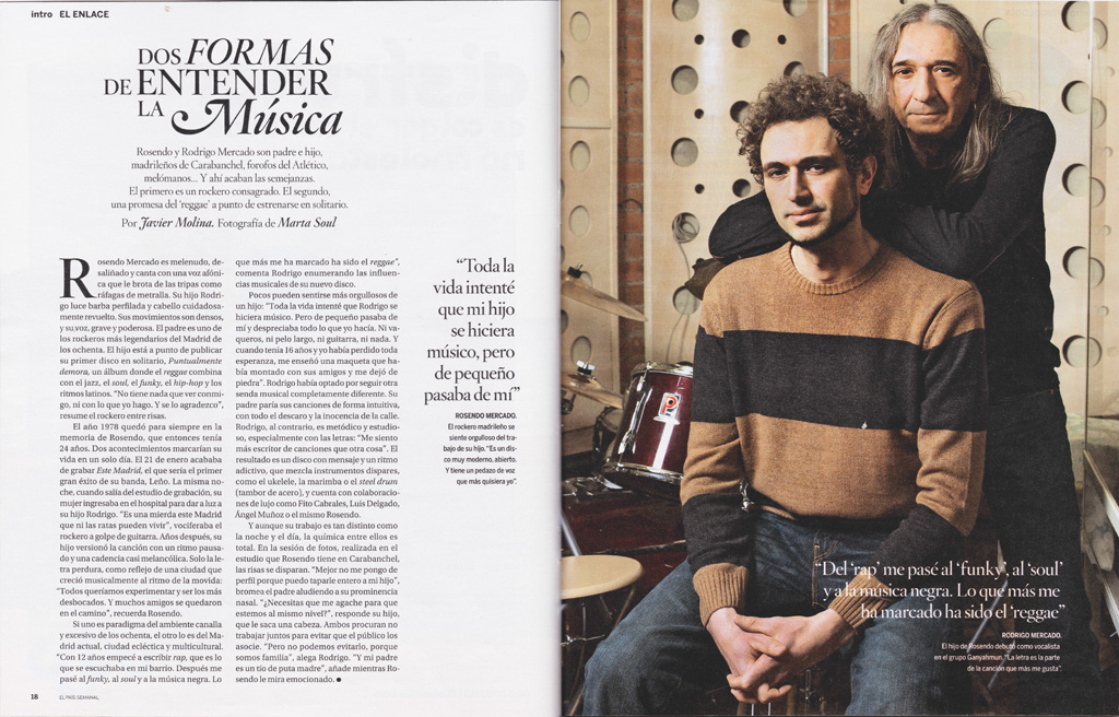 Rosendo y Rodrigo Mercado: Dos formas de entender la música (El País Semanal, February 17th, 2013)